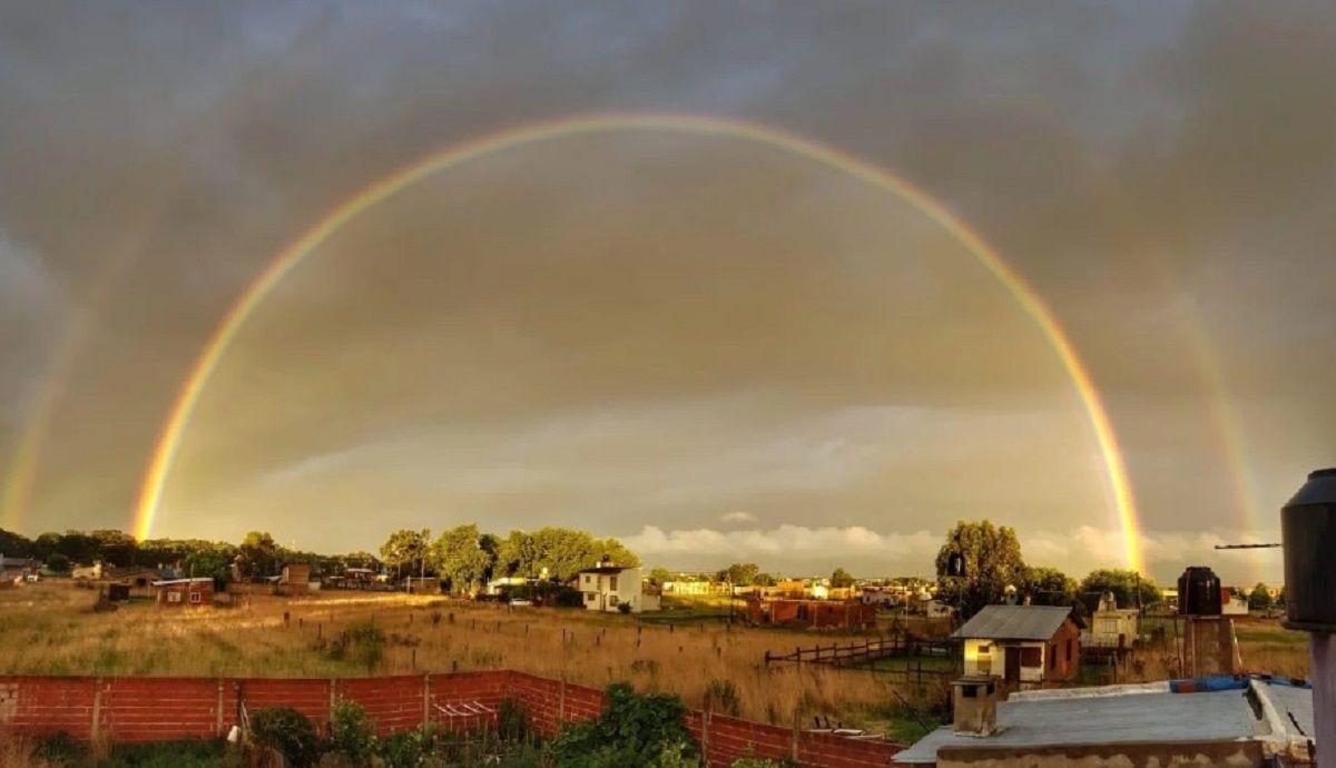 El espectacular doble arcoiris que sorprendió en Mar del Plata
