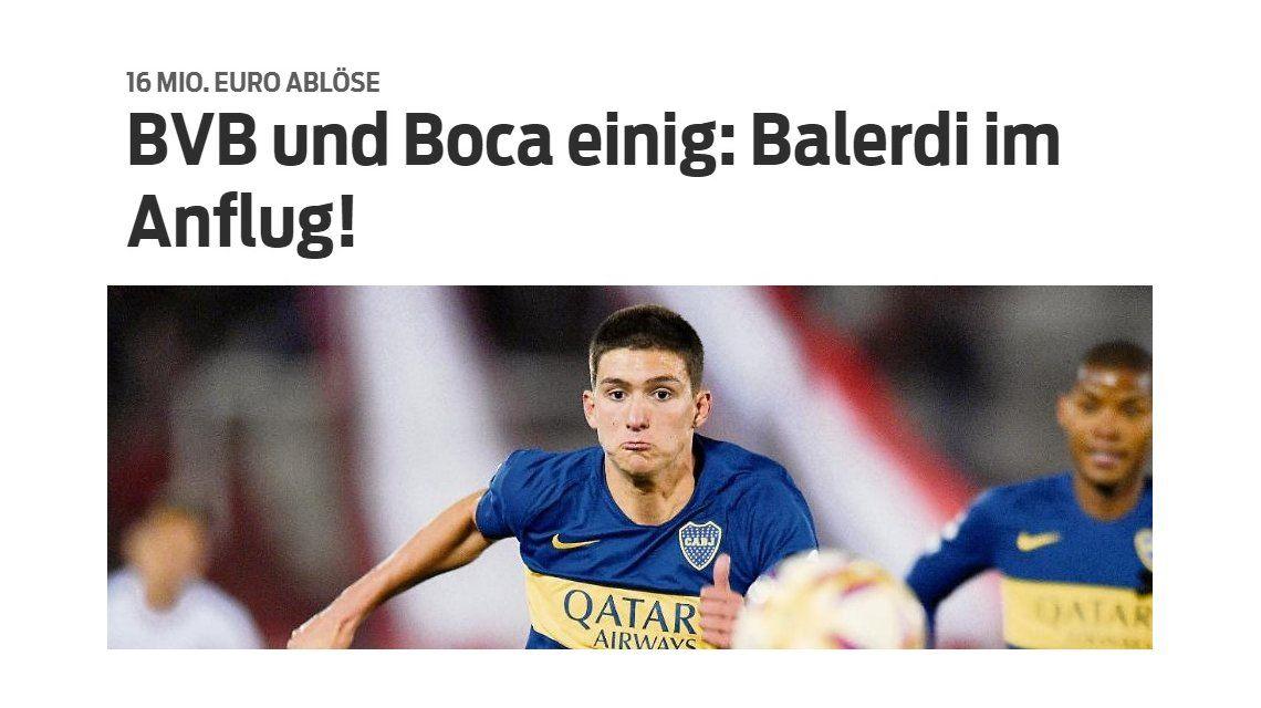 ¿El nuevo millonario? Leonardo Balerdi se va a jugar al Borussia Dortmund por una cifra impresionante