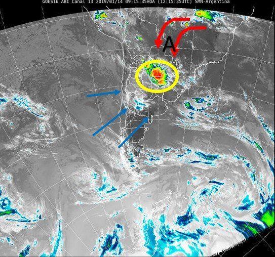 Fuente: imagen satelital SMN.