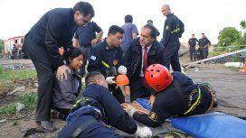 Daniel Scioli durante el rescate de Vanesa
