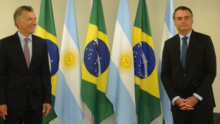 Mauricio Macri y Bolsonaro en su primera reunión bilateral