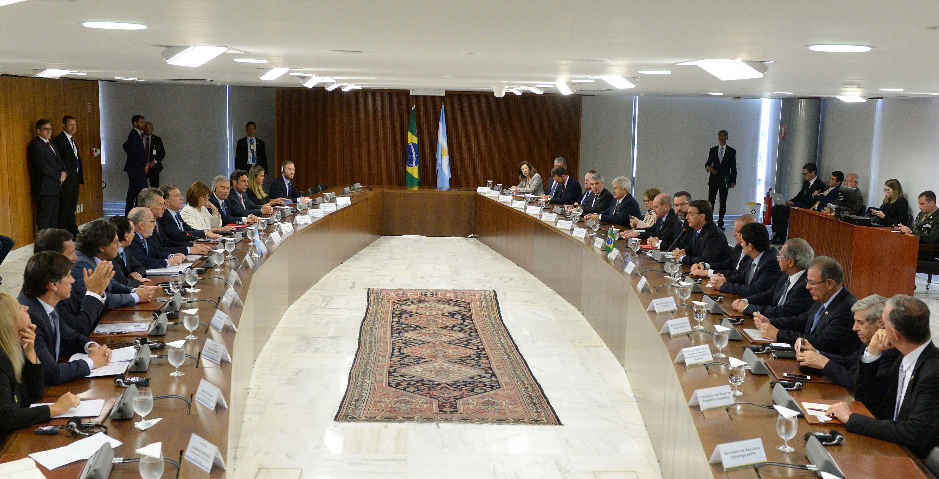 Las comitivas durante el encuentro