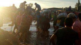 Ya son más de 3.500 las personas evacuadas por las inundaciones en Chaco