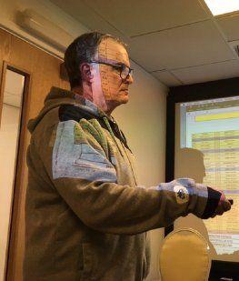 Marcelo Bielsa brindó una conferencia de prensa con una presentación en Power Point