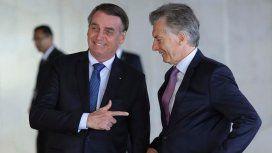 El gobierno de Macri recibió un contundente apoyo de Bolsonaro