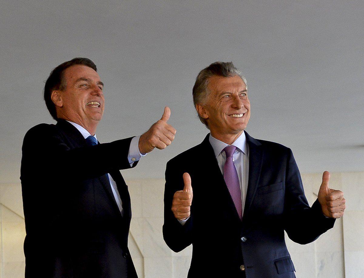 Macri y Bolsonaro en Brasil - Crédito:@mauriciomacri