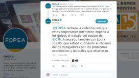 FOPEA se expresó en Twitter