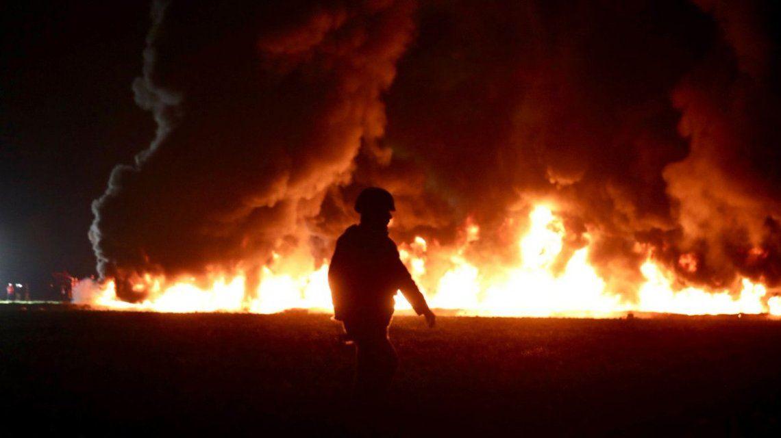 Explosión en México causada por los huachicoleros