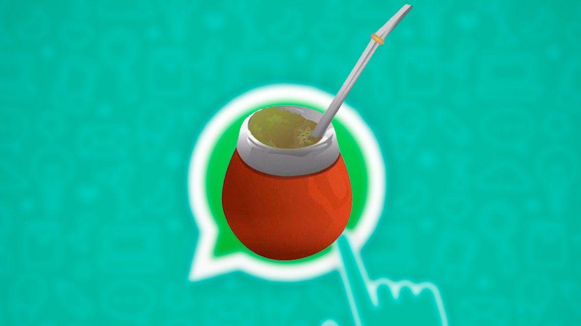 Es oficial: el emoji del mate llega a WhatsApp este año