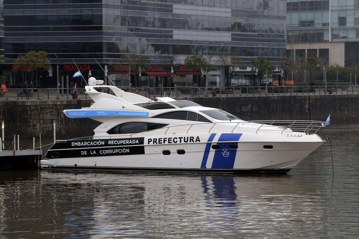 Una de las embarcaciones a las que se le aplicó la extinción de dominio