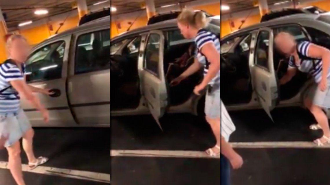 Escrachan a una pareja que dejó encerrada en el auto a su hija con más de 35°: Fue mi marido