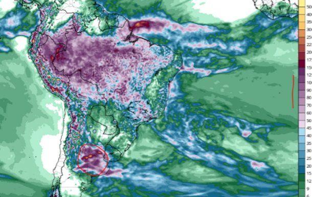 <p>Lluvias acumuladas hasta fin de mes: entre 50 y 100 mm en la zona central de Argentina.</p>