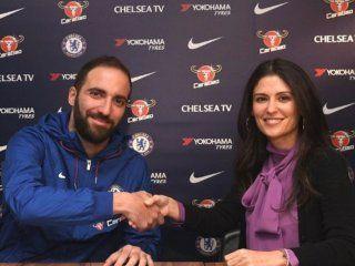 Gonzalo Higuaín ya es jugador de Chelsea