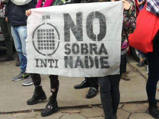 Lucha por las reincorporaciones en INTI - Crédito: @LaNaranjaINTI