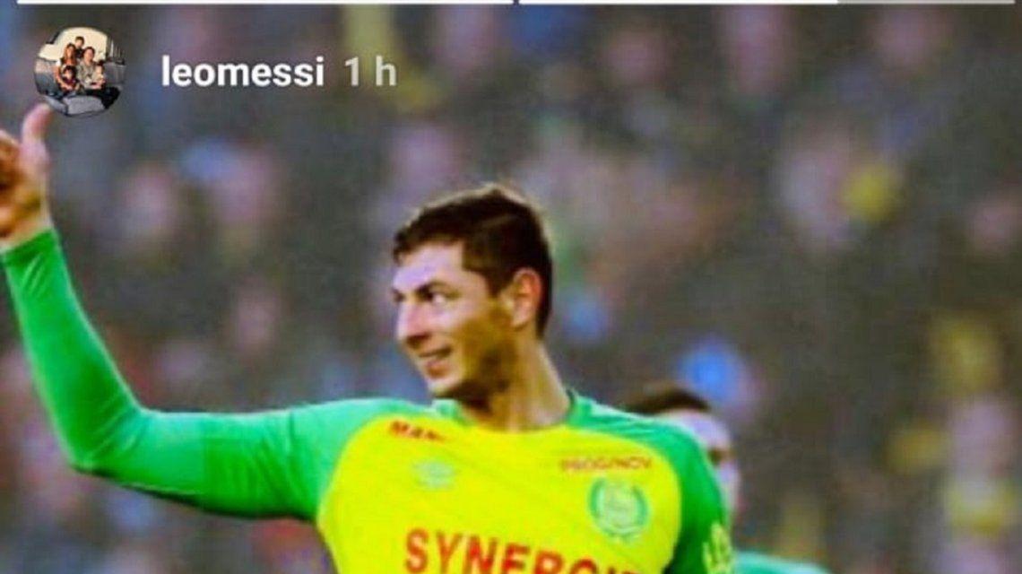 Messi pidió que se retome la búsqueda de Emiliano Sala