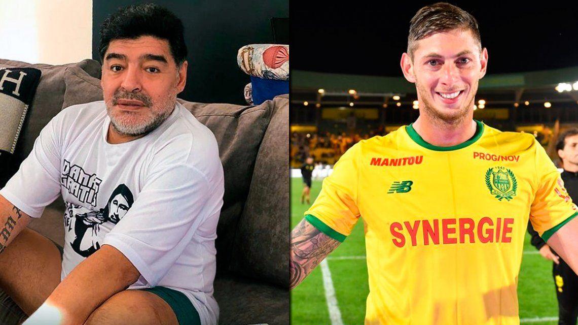Maradona también se sumó al pedido por Emiliano Sala: La esperanza nunca muere