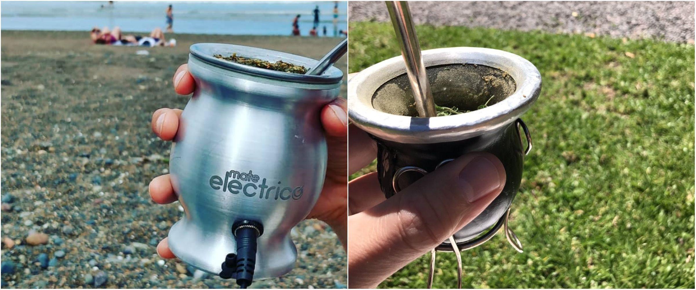 Mate eléctrico y mate calabaza: moderno vs. tradicional