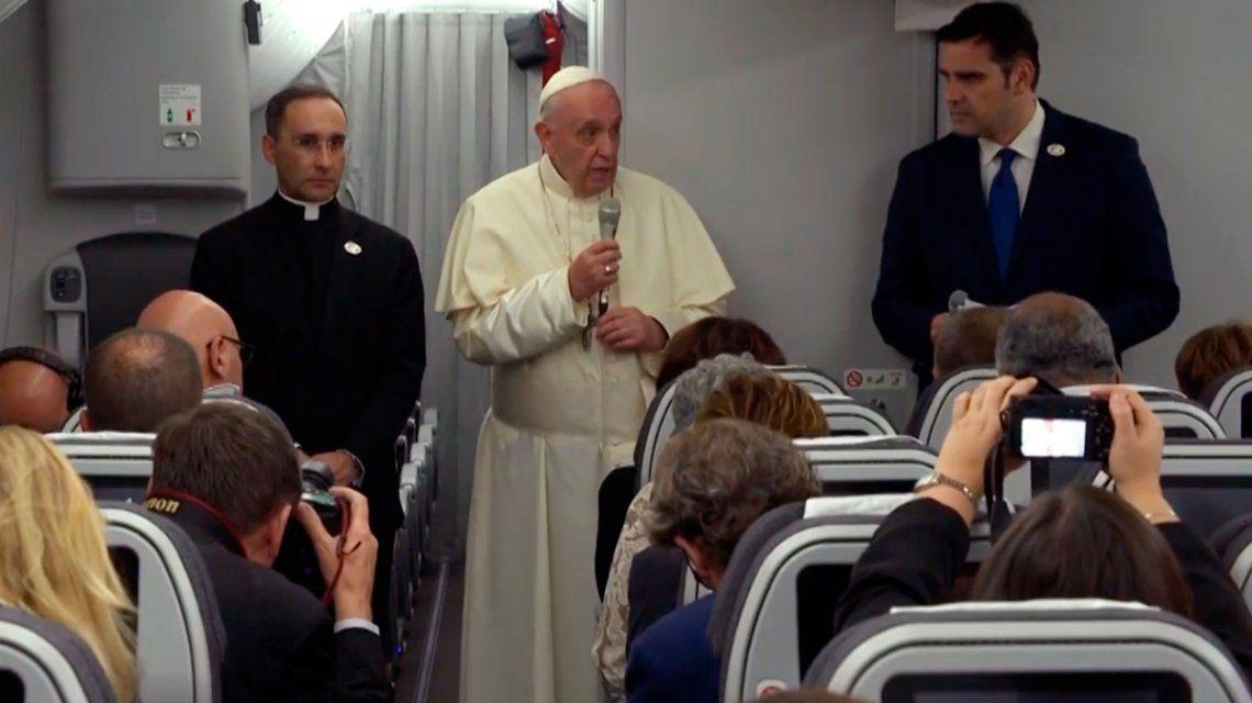 El papa Francisco dijo que lo asusta un derramamiento de sangre en Venezuela