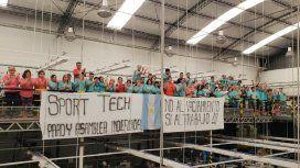 Trabajadores de Sport Tech - Crédito:ctanacional.org