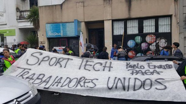 Trabajadores de Sport Tech - Crédito: Trabajadores de sport tech en lucha