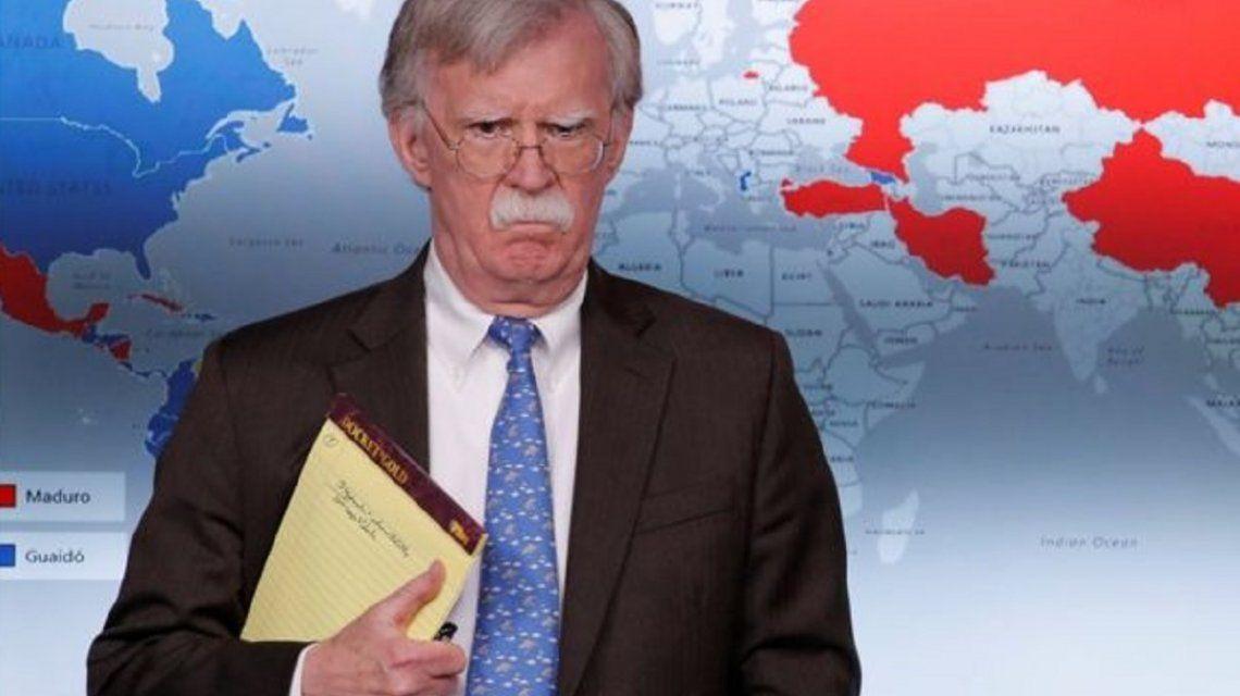 John Bolton: Es como cuando Darth Vader ahorca a alguien, eso hacemos con Maduro