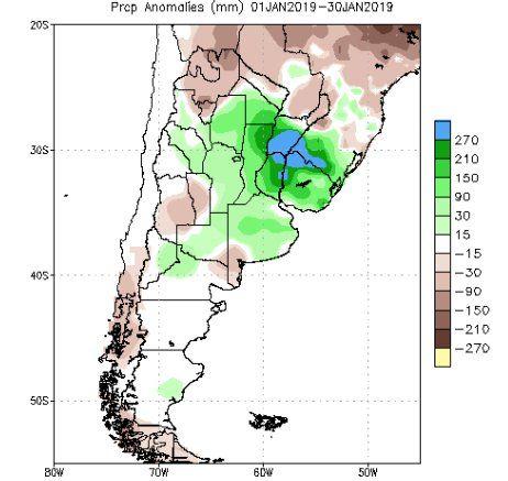 <p>Lluvias promedio durante enero.</p>
