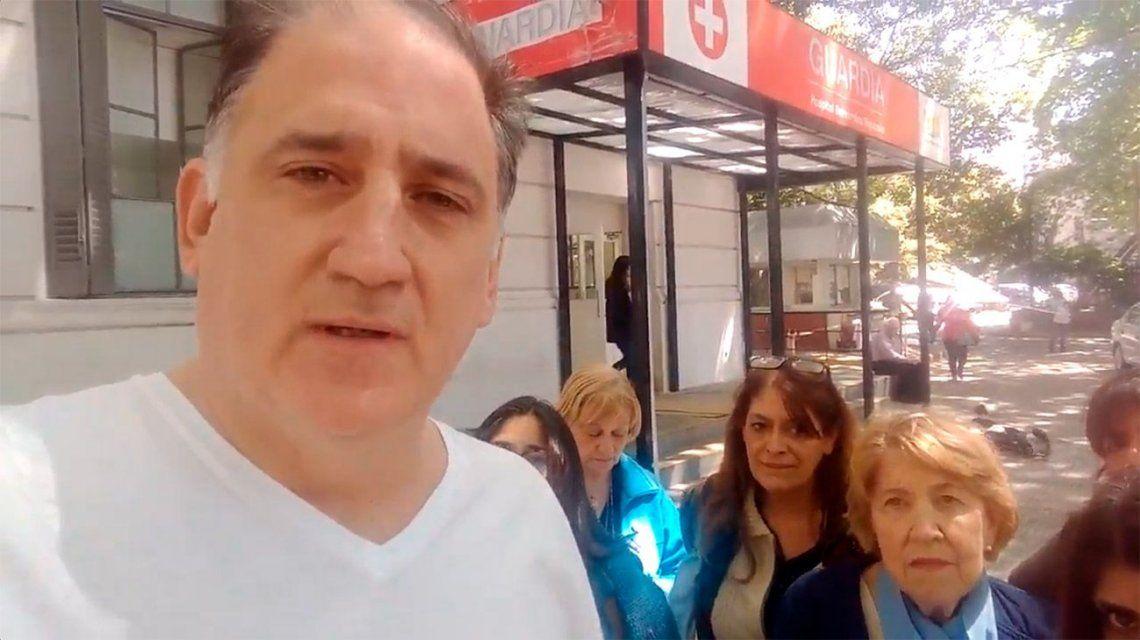 Obarrio y las mujeres que lo acompañaron a intentar detener la ILE en el Hospital Rivadavia