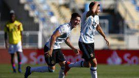 Julián Álvarez festeja el gol de la victoria