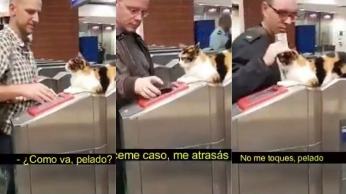 Metrodelegato, el video viral sobre un intruso en el subte