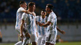 Con un triplete de Gaich, Argentina le ganó y goleó a Venezuela