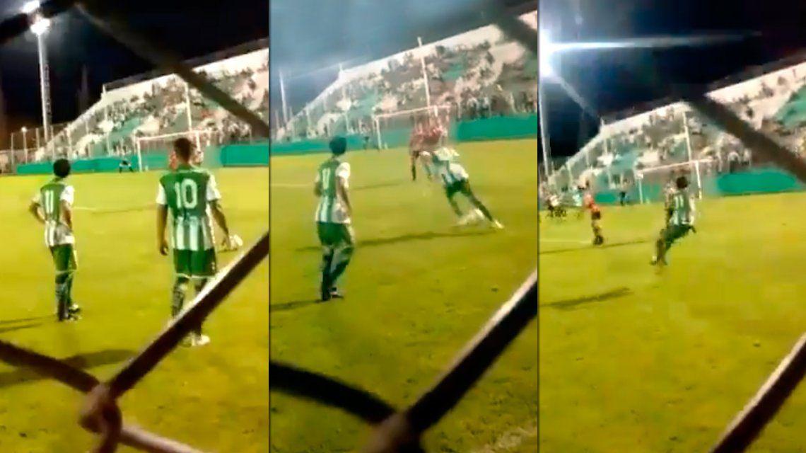 A lo Roberto Carlos: el gol del ascenso argentino que va a recorrer el mundo