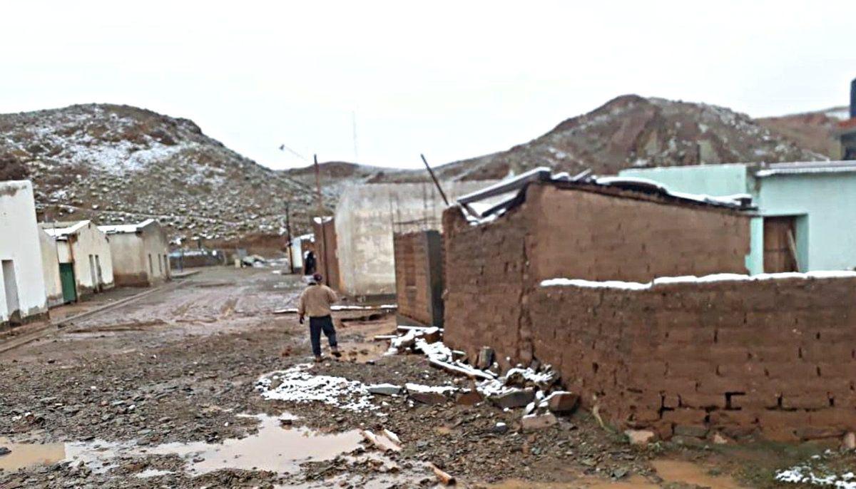 El Paso de Jama quedó obstruido por la nieve