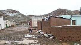 El Paso de Jama quedó obstruido por la nieve, y los poblados ofrecieron un paisaje muy atípico