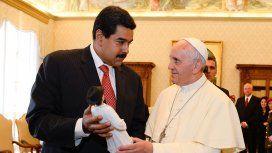 Nicolás Maduro y el Papa Francisco