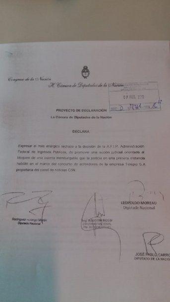 Diputados declararon su repudio a la decición de la Cámara de Apelaciones <br>