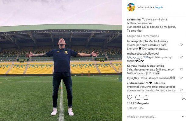 Despedida de Romina a Emiliano Sala -  Crédito: Instagram salaromina