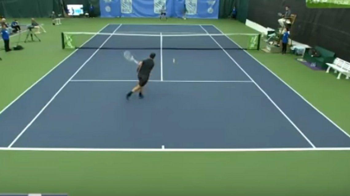 ¿Cómo hizo? El punto imposible que vuelve loco al mundo del tenis
