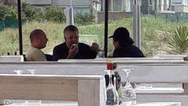 Marcelo DAlessio, Carlos Stornelli y Gustavo Sáenz en Pinamar