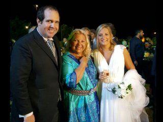 Elisa Carrió fue madrina de la boda de Lucila Lehmann y Luciano Bugallo Di Prinzio