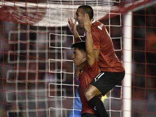 Gaibor celebra el gol de la victoria