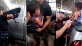 Dejó a su hijo de 3 años encerrado en una camioneta con 35 grados de térmica