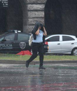 Tras una jornada de calor intenso en pleno invierno, llegó la lluvia a la Ciudad y Conurbano