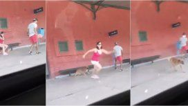 Así pegó un salto la mujer que abandonó a su perro
