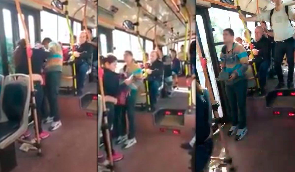 La mujer escrachó y golpeó al ladrón que intentó sacarle el celular