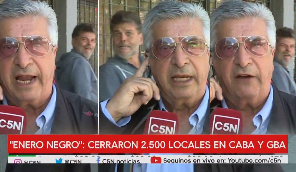 Alfredo Casero se burló en un móvil de C5N de los despidos en la era Macri