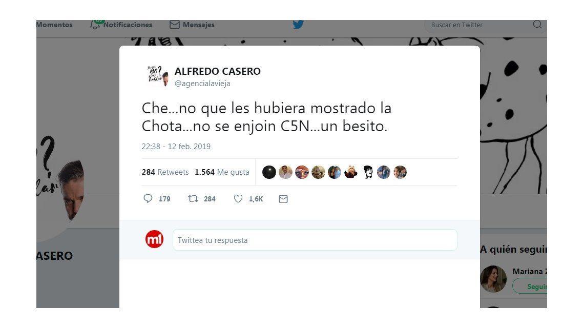 Ni que les hubiera mostrado...: la desubicada respuesta de Alfredo Casero a C5N