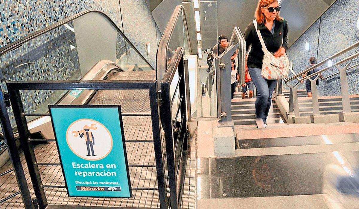 Subte: se podrá viajar gratis en las estaciones donde no funcionen las escaleras mecánicas