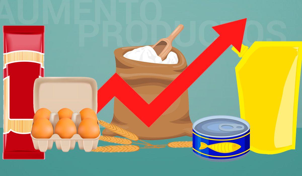 Harinas, pastas secas y enlatados de pescado: los productos que más aumentaron en un año