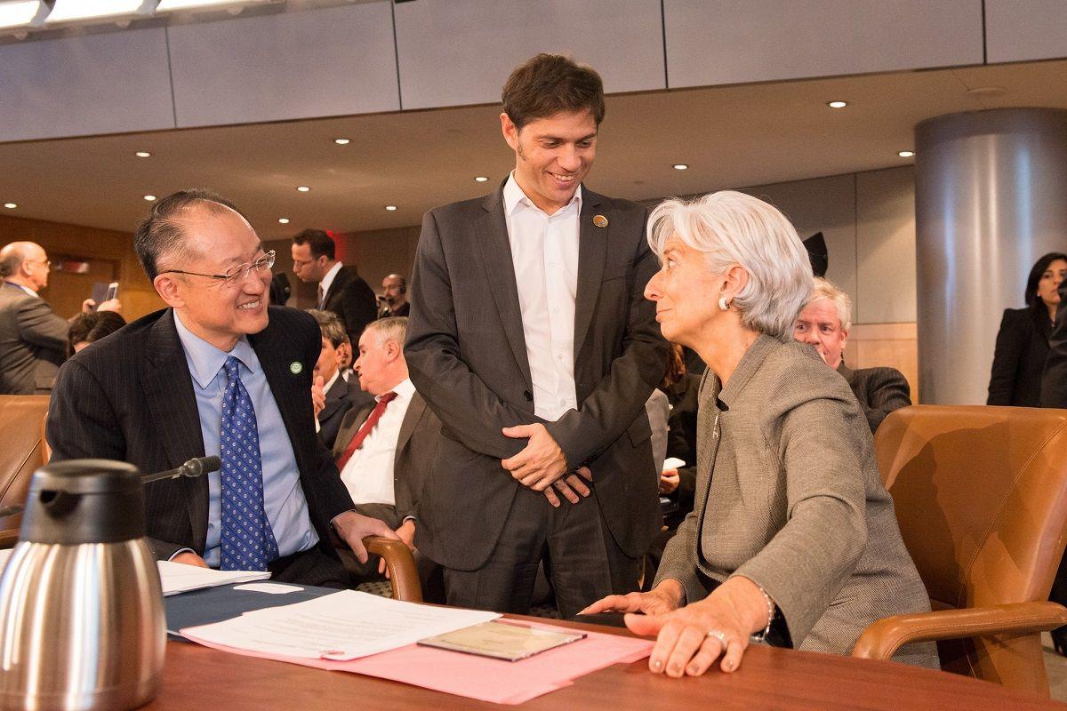 Kicillof junto con la titular del FMI