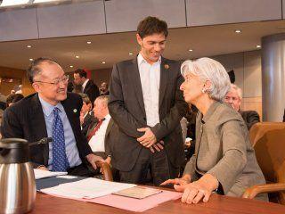 Kicillof junto con la titular del FMI, Christine Lagarde